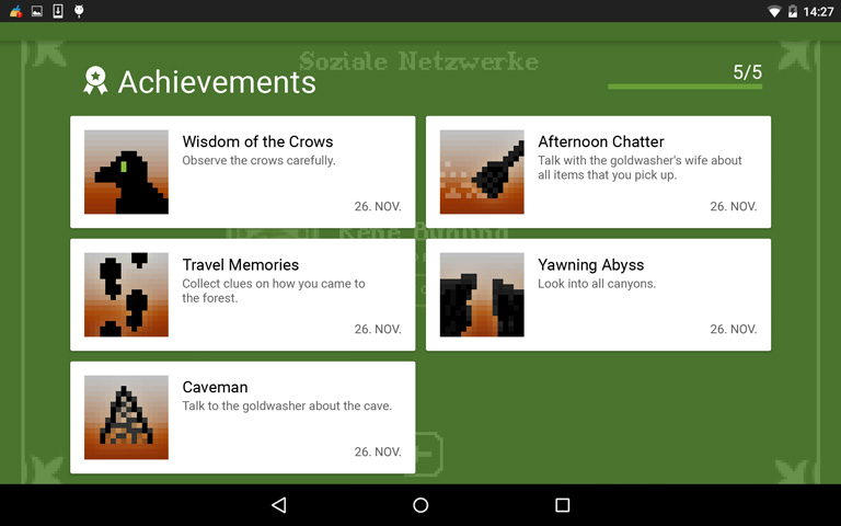 Google Play Achievements Board